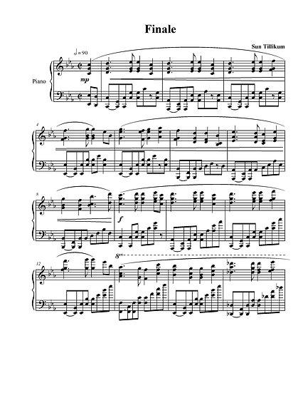 Finale - Piano Solo Sheet Music