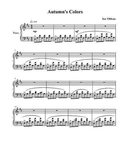 Autumn's Colors - Piano Solo Sheet Music