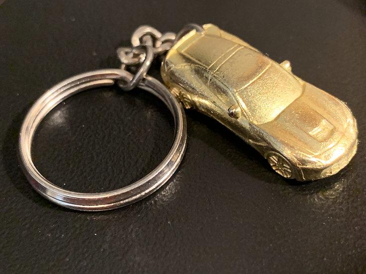 Corvette Keychain - Gold Monopoly Piece