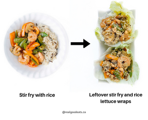 how to use leftover stir fry - lettuce wraps