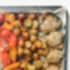 sheet pan greek chicken and vegetables.j