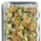 sheet pan smashes potatoes lentils and b