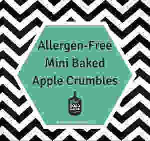 allergen free mini baked apple crumbles