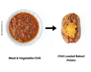 How to use leftover chili - loaded baked potato