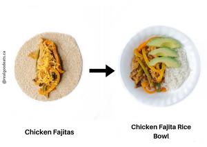 ways to use leftovers - fajitas