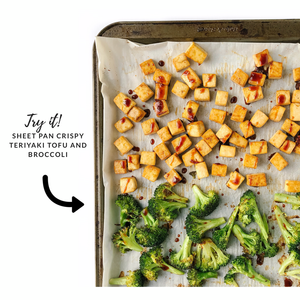 sheet pan crispy teriyaki tofu and broccoli