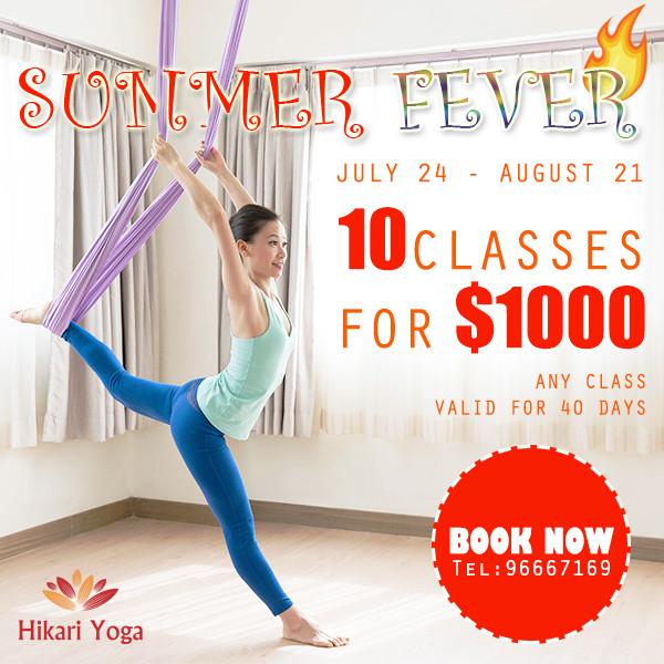 Summer Fever $1000 for 10 classes
