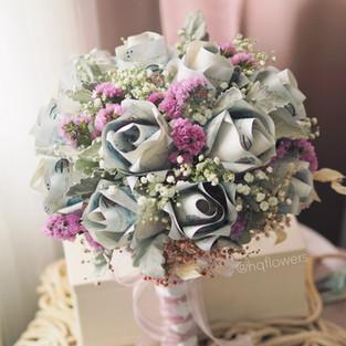 Camellia Money Bridal Bouquet