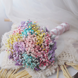 Baby Breath Rainbow Bridal