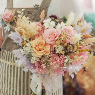 Preserved Bridal Bouquet + Groom Bout