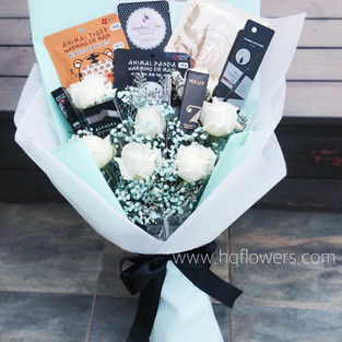 Client's Cosmetics Pick with Tiffany Theme Florals