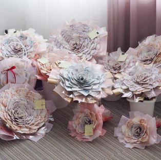 Camellia Money Bouquet