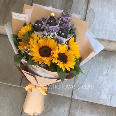 Avocado Sunflower Bouquet