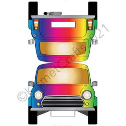 Teeny Car Shaped Card - Rainbow