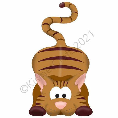 Kitty Shaped Card - Brown Tabby