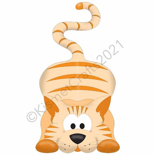 Kitty Shaped Card - Ginger Tabby