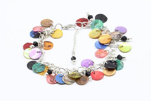Nacre Disc Bracelet - Multicoloured