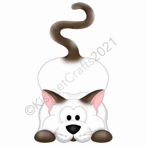 Kitty Shaped Card - Siamese