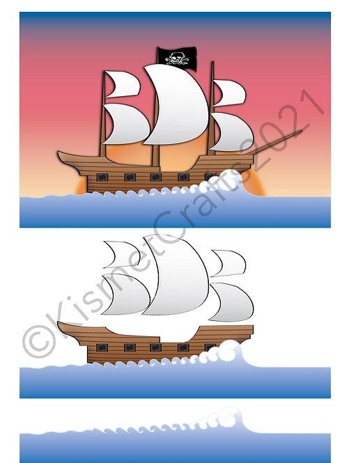 Pirate Ship Quick Card