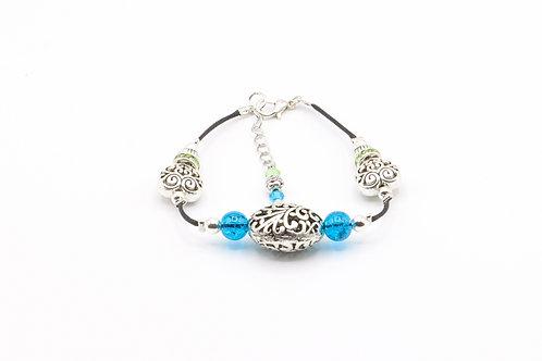 Filigree Oval & Heart Bracelet