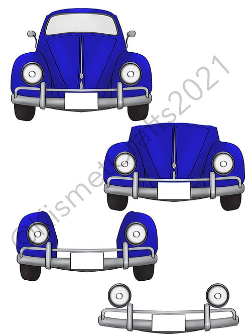 Fun Bug Decoupage - Blue