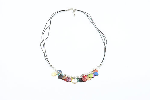 Nacre Disc Necklace - Multicoloured