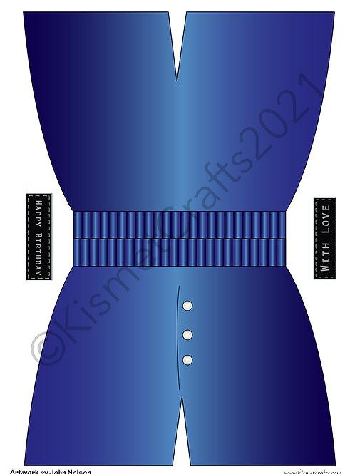 Boxer Shorts Shaped Card - DarkBlue