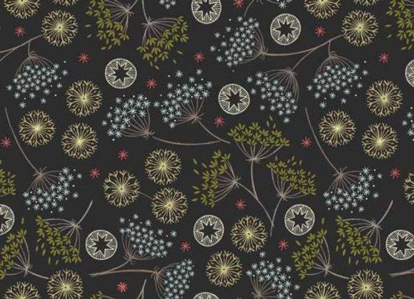Winter Floral on Black