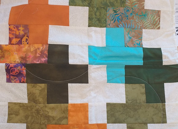 Cross Patchwork cushion cover
