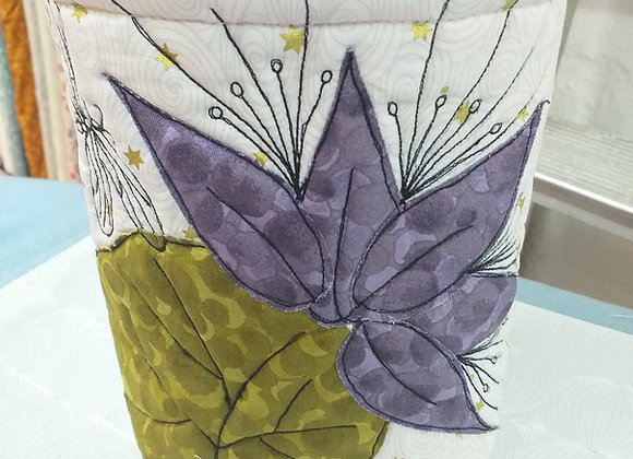 Dragonfly and Lilies Fabric Pots Kit
