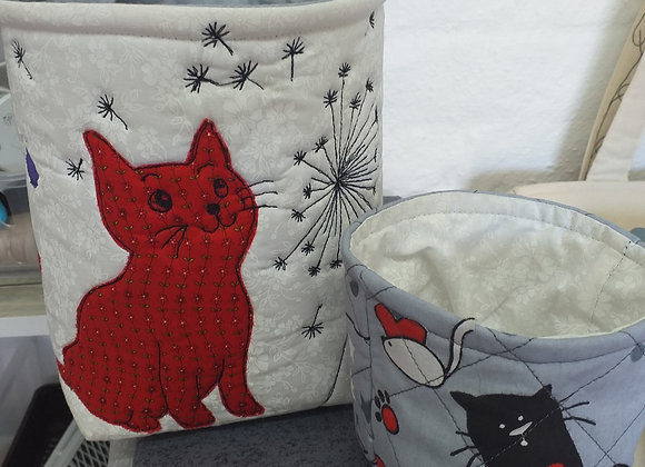 Playful Cats Fabric Boxes