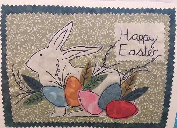 Easter Bunny Free Motion Card kit