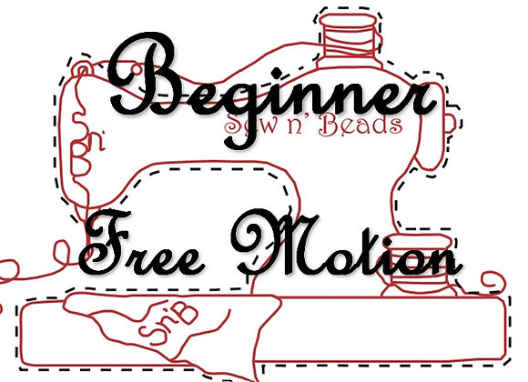 Online - Beginner Free Motion Embroidery