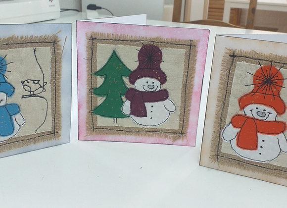 Trio Snowmen Christmas Cards