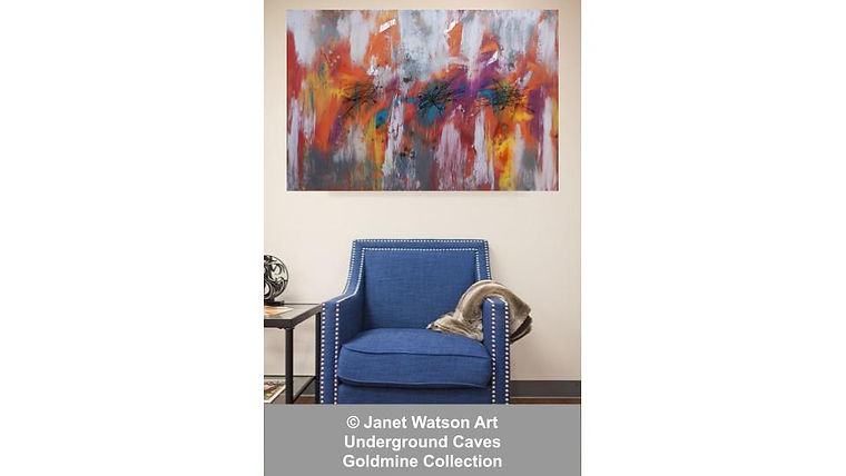 Opal Cave - Underground Caves - Goldmine Collection by Janet Watson Art