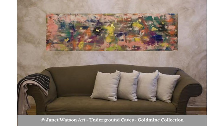 Colour Rush - Underground Caves - Goldmine Collection by Janet Watson Art
