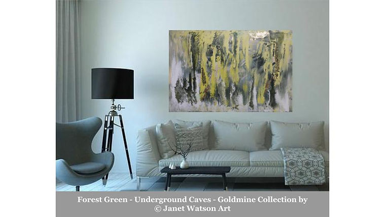 Forest Green - Underground Caves - Goldmine Collection by Janet Watson Art