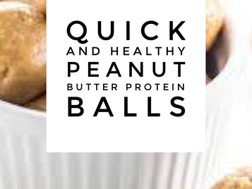 Quick and Healthy Peanut Butter Protein Balls
