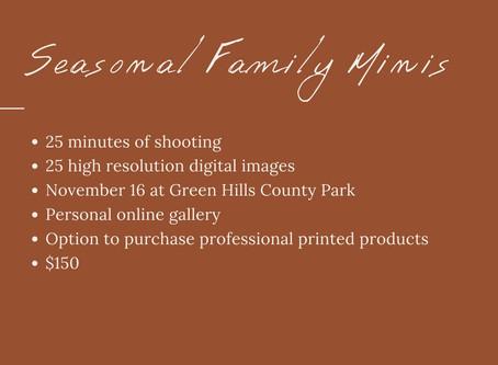Seasonal Family Minis Round 2