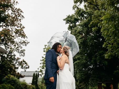 Intimate Rainy Wedding // Malique + Meg