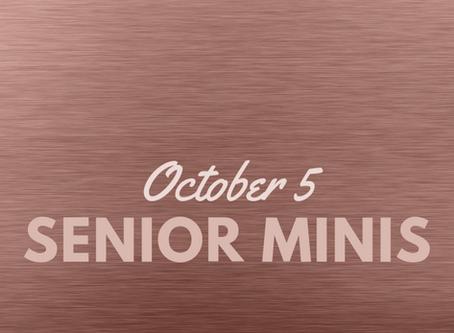 Senior Mini Sessions Are Here!