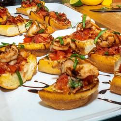 Infused Shrimp Bruschetta