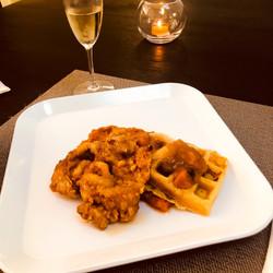 Chix & Candied Waffles w/ Puree