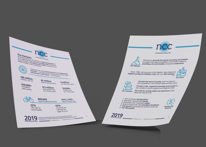 double sided leaflet for nonprofit bike