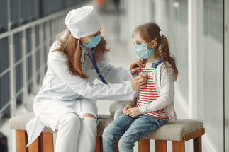 doctor and young patient