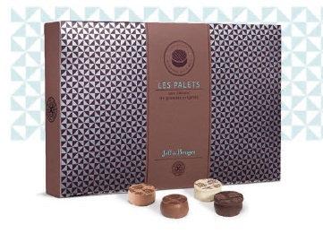 Les Palets - LA BOITE - 260 G NET 24 PALETS ASSORTIS 4 RECETTES AU CHOCOLAT NOIR