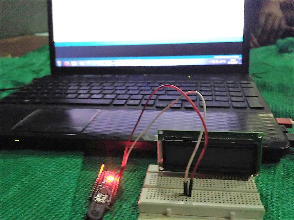 Team experimenting with arduino and soil moisture sensor.