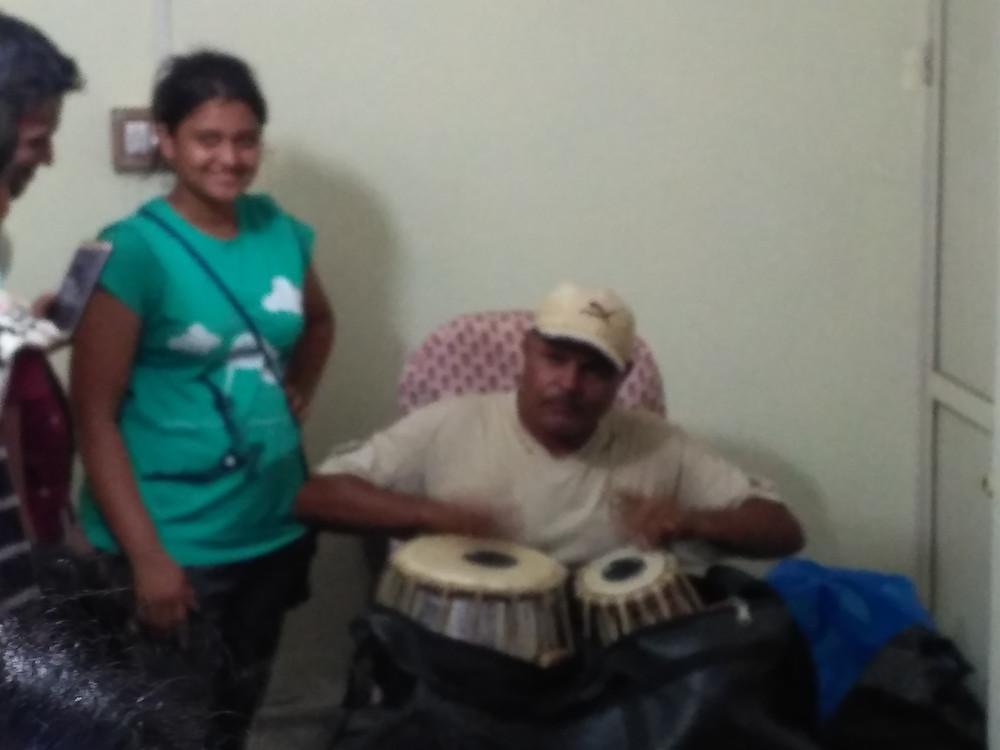 Ambu Patel demonstrating his diverse skills
