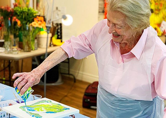 Bringing art to senior communities has b