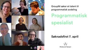 GroupM søker et talent til programmatisk avdeling